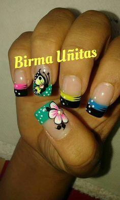 Toe Nail Art, Toe Nails, Fancy Nails, Pretty Nails, French Tip Design, Vacation Nails, Disney Nails, Flower Nails, Creative Nails