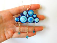 Quilling cloud pendant by OmbryB.deviantart.com on @deviantART