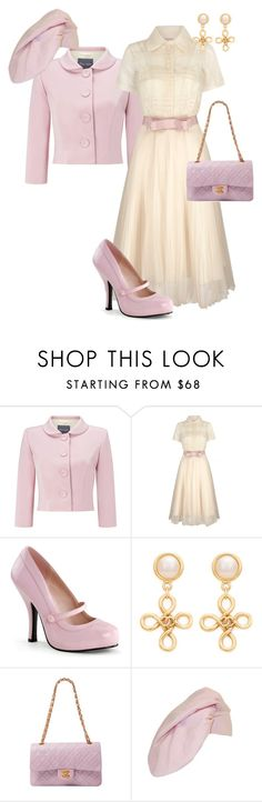 """Untitled #1338"" by pholtond on Polyvore featuring Phase Eight, Chanel, Hattie Carnegie, women's clothing, women, female, woman, misses and juniors"