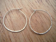 Small hoops/ silver hoop earrings/ by HartmannJewelryWorks on Etsy