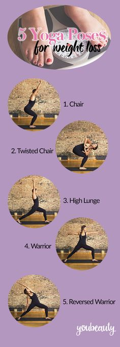 5 great yoga poses for weight loss, provided by our friend Sarah Levey, co-founder of y7 Studio in NYC.