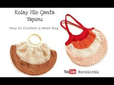 How to crochet mesh bag, market bag easily? Accessoires Divers, Crochet Bag Tutorials, Crochet Market Bag, Crochet Handbags, Summer Bags, Fabric Art, Straw Bag, Knit Crochet, Projects To Try