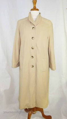 1950s Cashmere Coat / Vintage 50s Cream Cashmere Coat with Fur ...