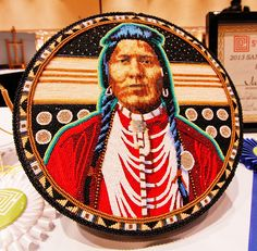 'Memory Keeper' beaded hatbox by Jackie Larson Bread, judged best in show at the 2013 Santa Fe Indian Market. Photo by Courtenay 'Coco' Sly....