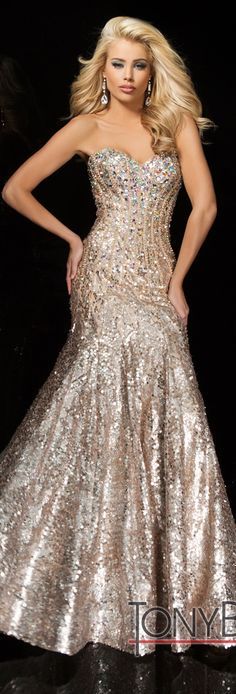 Champagne Gown by Tony Bowls