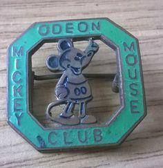 1930 s/1940 s Disney  Odeon Mickey Mouse Club  Badge