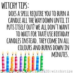 Witchy Tips & More: For Baby Witches & Broom Closet Dwellers - Random Tips & Tricks pt.I - Pagina 2 - Wattpad Magick Spells, Wicca Witchcraft, Candle Spells, Real Spells, Green Witchcraft, Witch Spell Book, Spell Books, Witchcraft For Beginners, Eclectic Witch