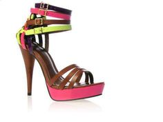 strappy heels!