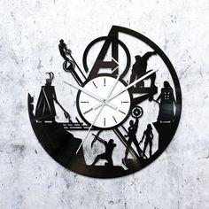 Avengers wall art vinyl clock,avengers ornament wall clock,avengers decor vinyl record clock,vinyl record clock,record clock,4552016