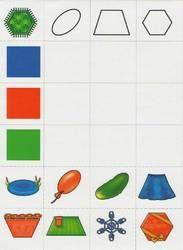 play on the development of logic Class Activities, Kindergarten Activities, Shape Games, Shapes Worksheets, Montessori Materials, My Little Baby, Preschool Math, Math For Kids, Home Schooling