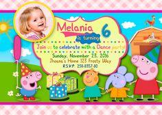 Peppa Pig Invitation. Peppa Pig Birthday by PartyForChild on Etsy