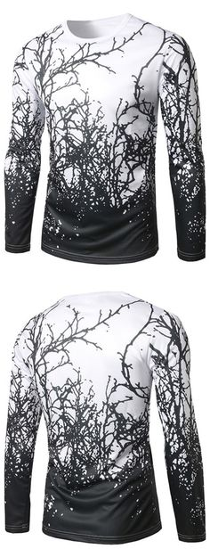 Long Sleeve Branch Print Tee