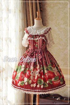 Dear celine strawberry lolita dress