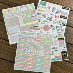 Shiny Gold stickers Plannerstickers Personal Stickers Gold