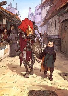 Lanista by Alexander Davtyan Concept Art Landscape, Fantasy Concept Art, Fantasy Character Design, Fantasy Artwork, Character Design Inspiration, Character Concept, Character Art, Comic Kunst, Comic Art