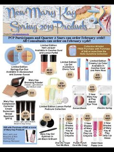 New spring products! Get yours today! www.marykay.com/bneisent21 bneisent21@marykay.com