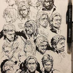 #art #corvoattano #dishonored #sketch #ink