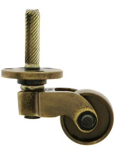 Solid Brass Stem-and-Plate Caster in Antique-by-Hand Finish | House of Antique Hardware