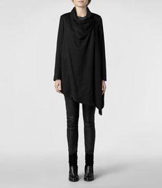 AllSaints Hoxton Monument Coat   Womens Trench Coats