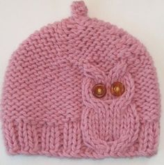 Pink Owl Cable Knit Hat by laceandcable on Etsy. Reasonable price for the pattern. Pin leads back to Etsy. Knitting For Kids, Loom Knitting, Knitting Projects, Baby Knitting, Crochet Projects, Free Knitting, Diy Projects, Knitted Owl, Knit Or Crochet