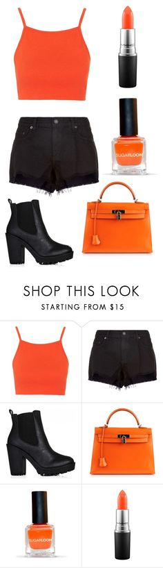 """""""I just really like orange"""" by watermelon-lane on Polyvore featuring Topshop, rag & bone, Hermès and MAC Cosmetics"""