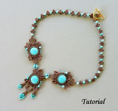 Beading pattern beadweaving tutorial beaded seed by PeyoteBeadArt