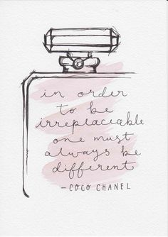 Coco Chanel Quote Original Watercolor Painting Art Small Pen and Ink Fashion Illustration Minimalist Fashion Print Typographic Print Pink - - Quotes Pink, Cute Quotes, Positive Quotes, Motivational Quotes, Inspirational Quotes, No Ordinary Girl, Coco Chanel Quotes, Beauty Quotes, Makeup Quotes