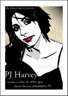 pj harvey music gig posters | PJ Harvey
