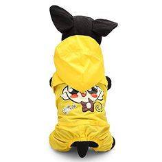 3 Colors Cute Big Eye Monkey Pet Raincoat Outdoors Waterproof Jumpsuit >>> Review more details here : Dog coats