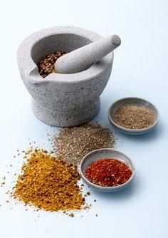 Grillmarinade - 4 slags tør marinade til grill - perfekt til kylling, oksekød, laks m.m.