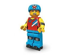TOMY LEGO Minifigures Series 9 Roller Derby Girl RollerSkater COLLECTIBLE Figure skates