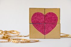 Penny loves hearts and puzzles so I think she will enjoy this!     DIY Heart Block Puzzle Valentine