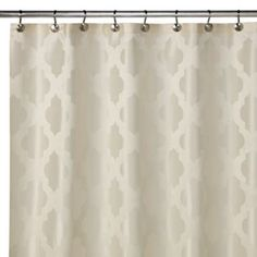 Tangiers 72-Inch x 72-Inch Shower Curtain in Ivory - BedBathandBeyond.com
