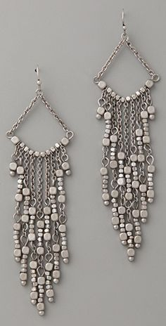 Club Monaco Beaded Fringe Earrings | 15% off 1st app order use code: 15FORYOU