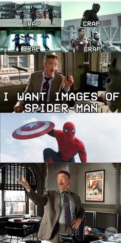 When you realize you were J Jonah Jameson waiting for Spidey to be in a civil war trailer