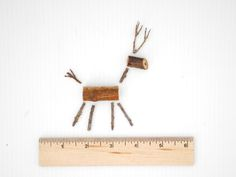How to Make a Miniature Twig Reindeer Ornament