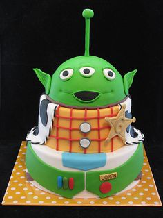 Toy Story now that is an awesome cake! Gorgeous Cakes, Amazing Cakes, Fondant Cakes, Cupcake Cakes, Toy Story Cakes, Different Cakes, Character Cakes, Novelty Cakes, Love Cake