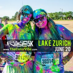 The Color Vibe 5K Run is coming to Lake Zurich on June 20. Sign-up today at www.TheColorVibe.com