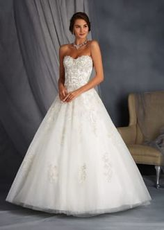 Signature Wedding Gown with Encrusted Sweetheart Bodice