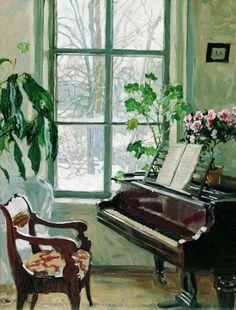 ◇ Artful Interiors ◇ paintings of beautiful rooms - Stanislav Zhukovsky