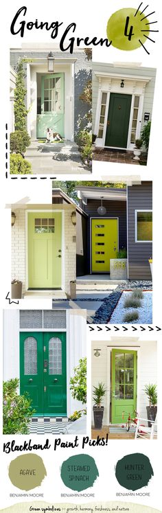 Colorful Front Doors - Blackband Design