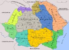 Historical regions of Romania [[MORE]]You can basically identify the borders of the 3 old medieval principalities: Wallachia (Muntenia+Oltenia+Dobrogea), Moldavia (Moldova+Bucovina+Bessarabia) and. Romania Map, Republica Moldova, Transylvania Romania, Old World Maps, Austro Hungarian, World War One, Historical Maps, Bulgaria, Images