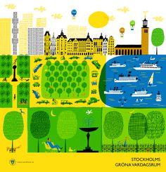 Klas Fahlé - Stockholm map