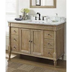 """Fairmont Designs Rustic Chic 48"""" Vanity - Weathered Oak 