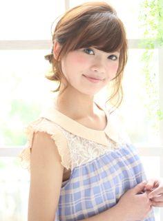 小顔にみせる、ねじりプチアレンジ!! 【K-two 青山】 http://beautynavi.woman.excite.co.jp/salon/21822 ≪arrange・hairstyle・アレンジ・ヘアスタイル≫