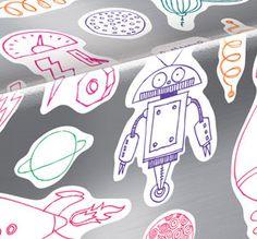 Pañuelos Familia® Chic Metallic. Un toque Chic que le dará brillo a cualquier lugar. Pista, Robots, Chic, Metal, Monsters, Jitter Glitter, Shabby Chic, Elegant, Robot