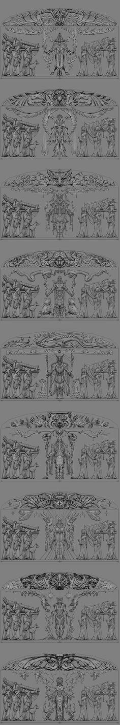 Ancient Nord Pantheon: Alduin, Kyne, Orkey, Shor, Tsun, Stuhn, Jhunal, Mara and Dibella.