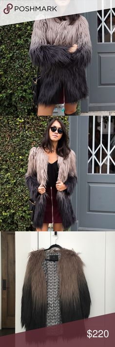 Unreal fur faux fur ombré jacket Super cozy faux fur jacket. Worn a handful of times, in excellent condition - practically new. Unreal Fur  Jackets & Coats