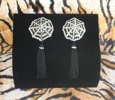 Burlesque Pasties Spiderweb Tassels Rotating by Miss1313Designs