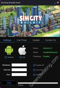 #SimCity  #SimCityBuildit #SimCitybuildithack #Hack #HackTool #simcityhack #androidHack - SimCity BuildIt Hack Tool for Android http://greencheating.com/simcity-buildi…ol-for-android/